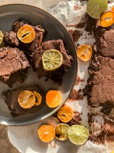 clementine and lime brownies