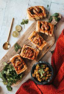 shrimp samosa puff pastry bites
