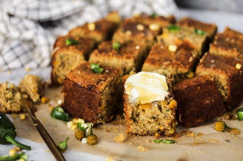 Browned Butter Bacon and Jalapeno Cornbread