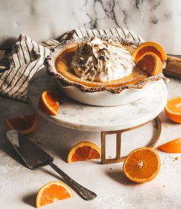 blood orange ricotta pie