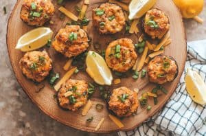 cheesy old bay stuffed crab mushrooms