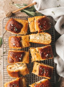 sage honey butter dinner rolls