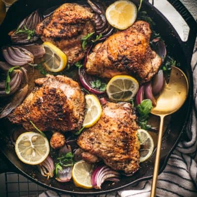 White Wine Herb Roasted Chicken