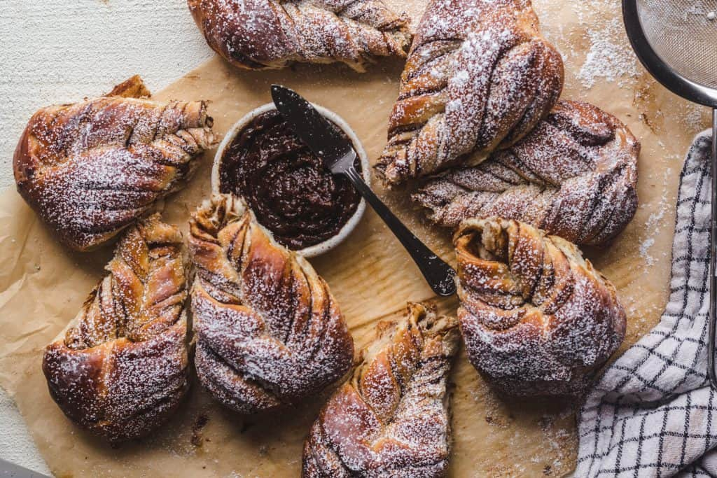 soft and buttery prune starbread