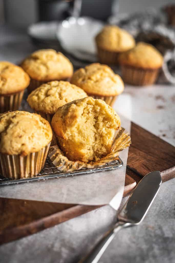 Corn Muffins with Cinnamon Maple Butter