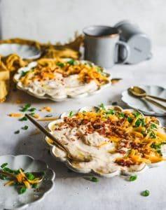 Cheesy Bacon Cauliflower Soup