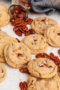 vanilla bean butter pecan cookies
