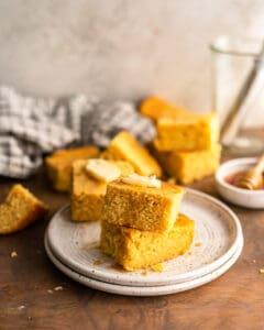 photo of buttermilk cornbread recipe on a plate