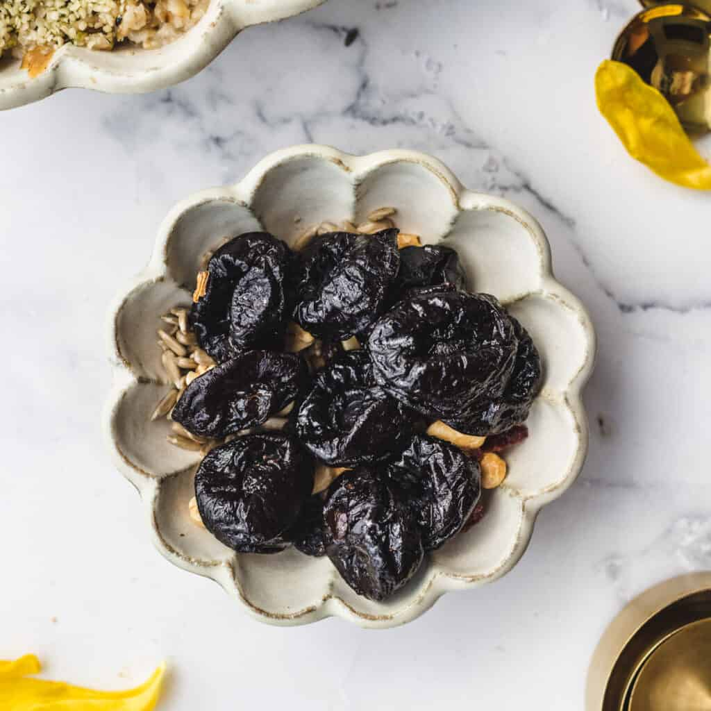 a bowl of prunes