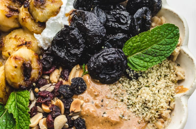 Caramelized Banana and Prune Breakfast Bowls