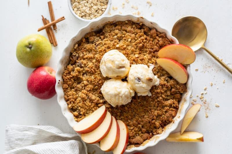 Cinnamon Pear Apple Crisp