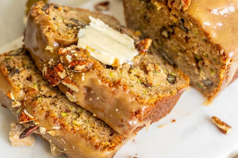 Zucchini Bread with Maple Glaze
