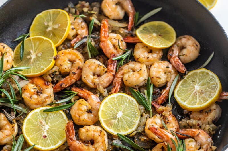 Garlic and Herb Shrimp with Whipped Feta
