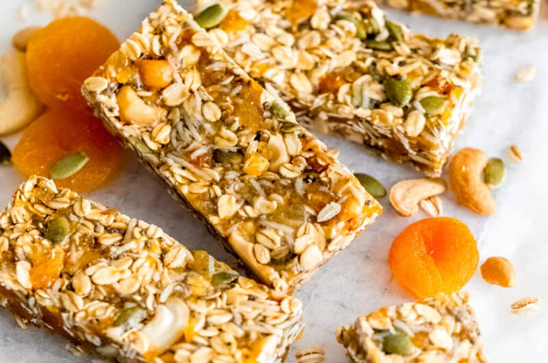 Apricot Coconut Cashew Bars