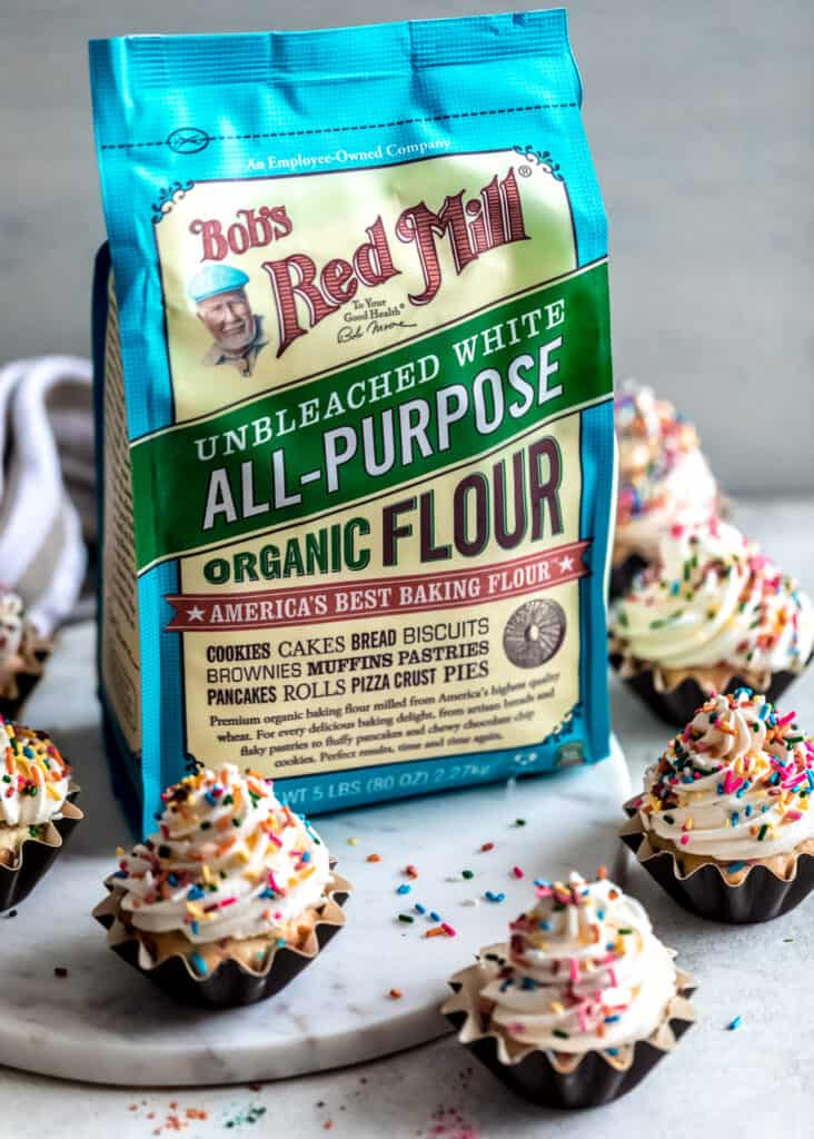 Cupcakes with Bobs Red Mill Flour