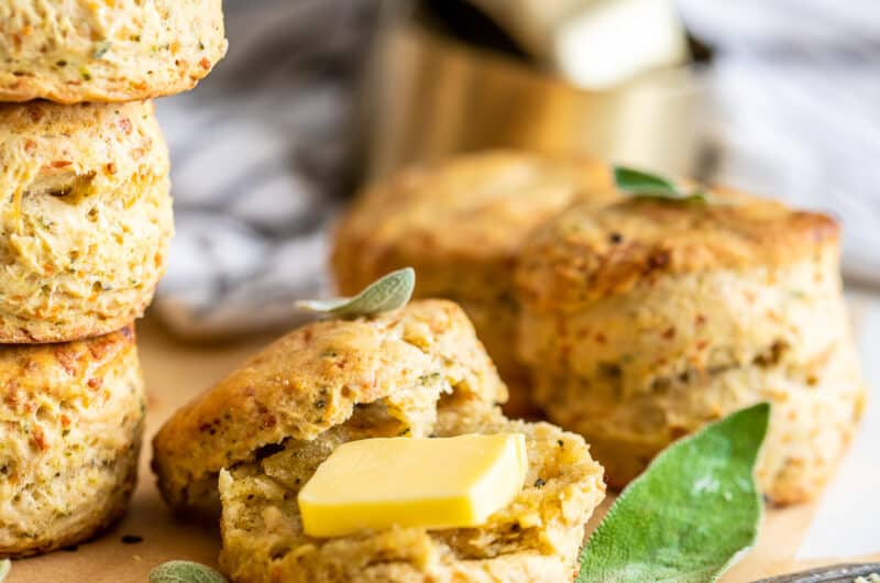 Sage Brown Butter Biscuit with Parmesan