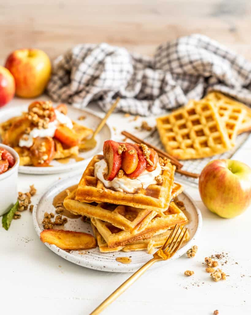 front view of waffles