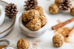photo of chai spiced energy balls in a bowl