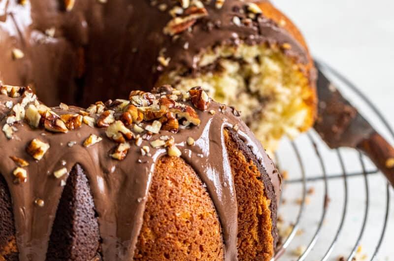 Chocolate Coffee Marble Cake